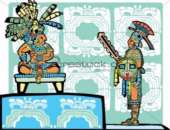 Mayan King and Warrior
