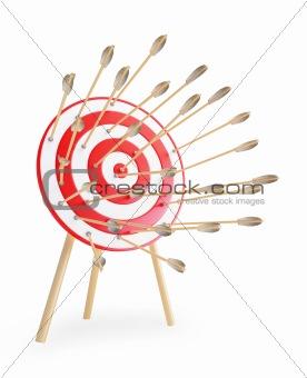 arrows got in a target