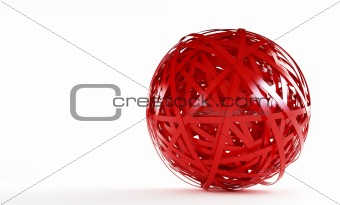 abstract red plastic ball
