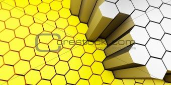 Background honeycomb
