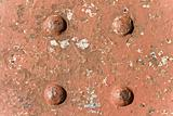 Rusty iron and rivet texture