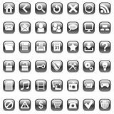 Set of 42 black icons for Web.