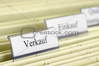 """Close-up hanging folder """"Sale"""""""
