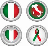Italy Buttons