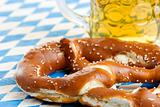 Oktoberfest Pretzel and beer stein