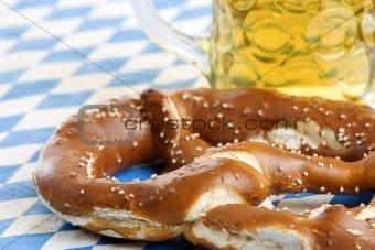 Oktoberfest Pretzel and beer stein