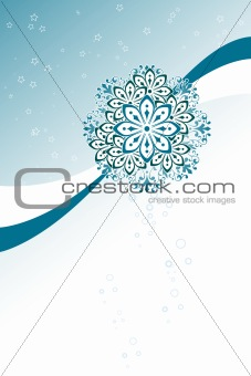 abstract background with circles flowers and stars, vector illus