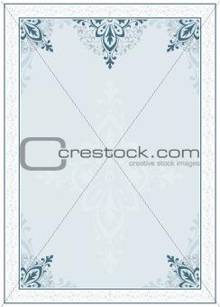 Frame with ornamental design