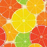 Abstract citrus high-detailed background. Seamless.