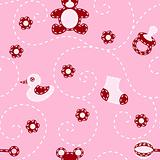 Seamless baby-girl quilt pattern