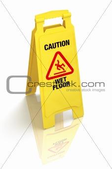 """""""Caution - Wet Floor"""" Sign"""