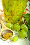 Green gooseberry jam