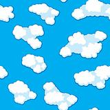 Abstract clouds background. Seamless.