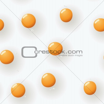 Abstract fried-eggs background. Seamless.