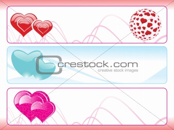 abstract heart shape banner