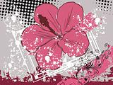 grungy background with floral