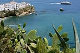 Ibiza view with nice Mediterranean sea