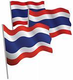 Thailand 3d flag.