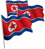 North Korea 3d flag.