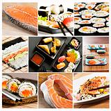 sushi collage