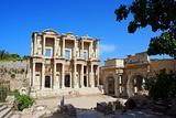 Facade of ancient Celsius Library in Ephesus