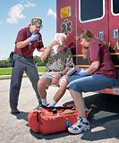 EMTs with a Patient