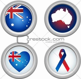 Australia Buttons
