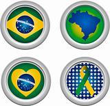 Brazil Buttons