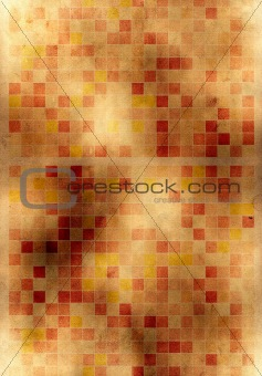 old yellow paper background with squares