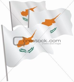 Cyprus 3d flag.