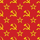 Abstract symbols of USSR background. Seamless.