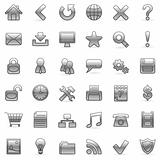 Set of 36 grey icons for Web.