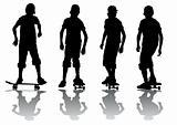 Boy on skeytboarde