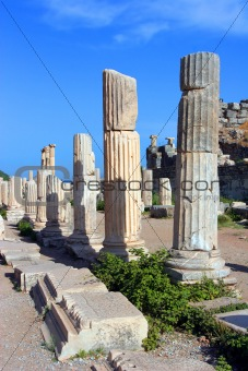 Colonade of an ancient Temple in Ephesus, Turkey