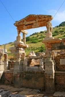 Fountain of Trajan, Ephesus, Turkey