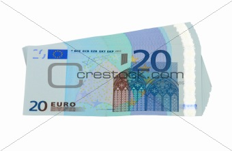 20 Euro banknotes, isolated