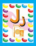 Flash Card Letter J Nouns