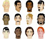 12 Men Faces Diversity