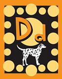 Flash Card Letter D Nouns