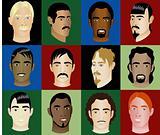 12 Men Faces Diversity