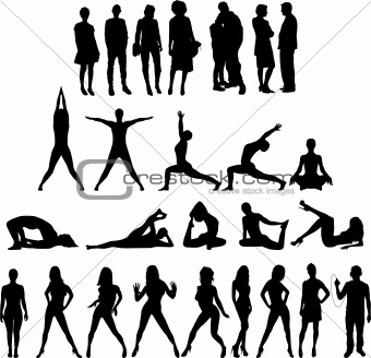 27 People Silhouettes