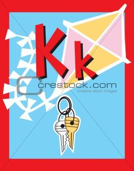 Flash Card Letter K Nouns