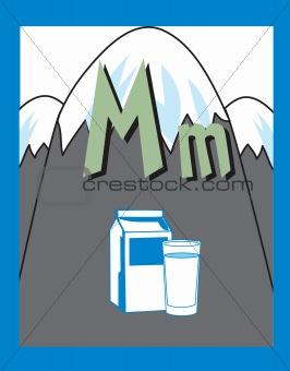 Flash Card Letter M Nouns