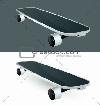 vector illustration of icon skateboard