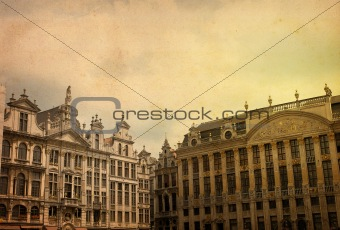 antique city view in Europe