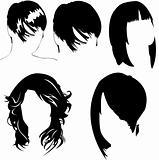 women haircut vector collection
