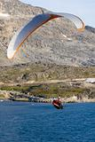 Paraglider over the ocean