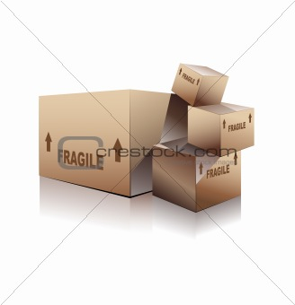 Three Dimensional Open Box