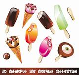 Ice Creams Icon Set