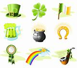 St. Patrick&#39;s Day icon set